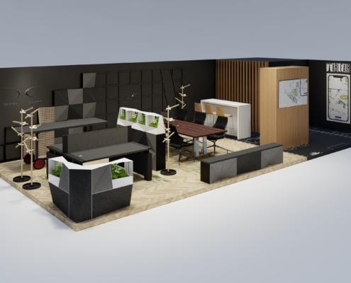 Beursstand Design Djunky vakbeurs facilitair 2020