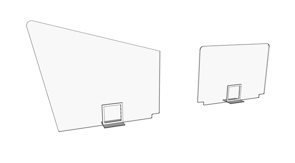 vergaderen met transparant scherm corona